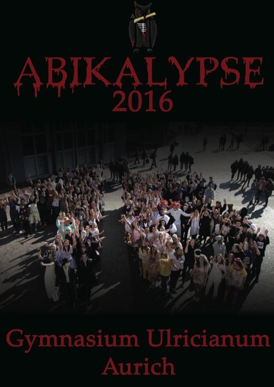 Titelbild der Abizeitung 2015/16 Gymnasium Ulricianum Aurich