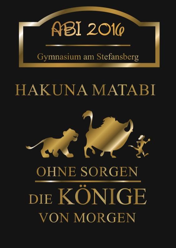 Titelbild der Abizeitung 2015/16 Gymnasium am Stefansberg
