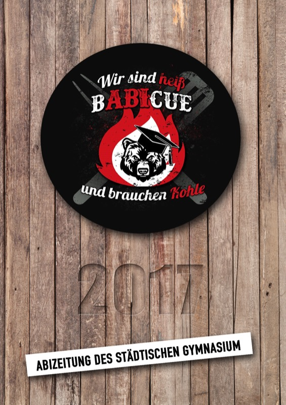 Titelbild der Abizeitung 2016/17 Städtisches Gymnasium Bad Segeberg
