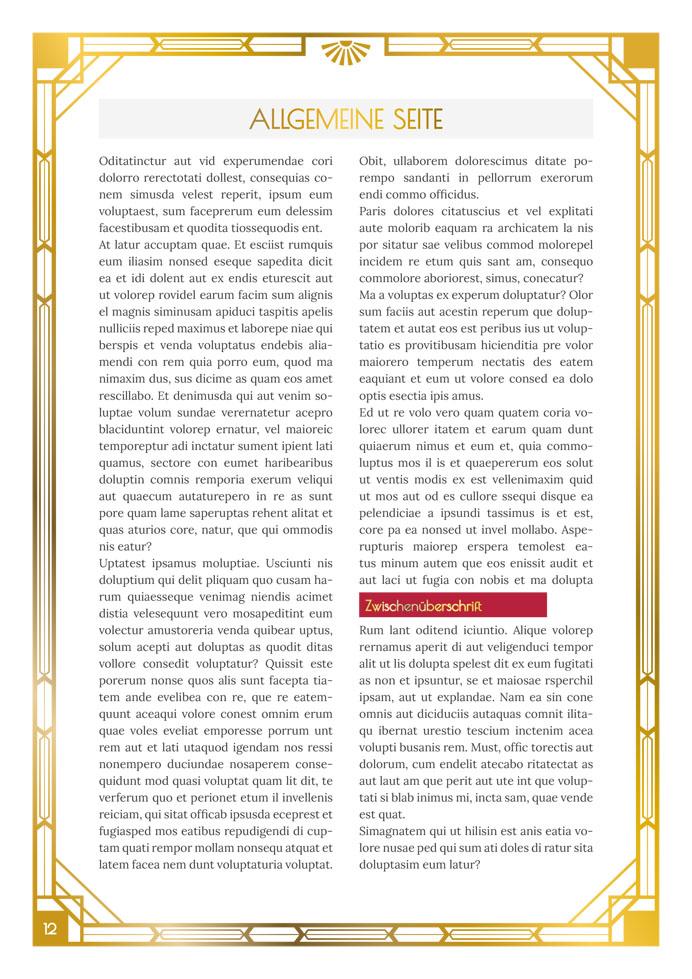 [Translate to Österreich:] Layout Golden Twenties Textseite